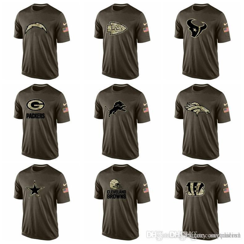 2019 Bengals Cleveland Browns Dallas Cowboys Denver Broncos Detroit Lions  Green Bay Packers Mens T Shirts Salute To Service Dri FITT Shirt From  Anycustom 43d8b595d