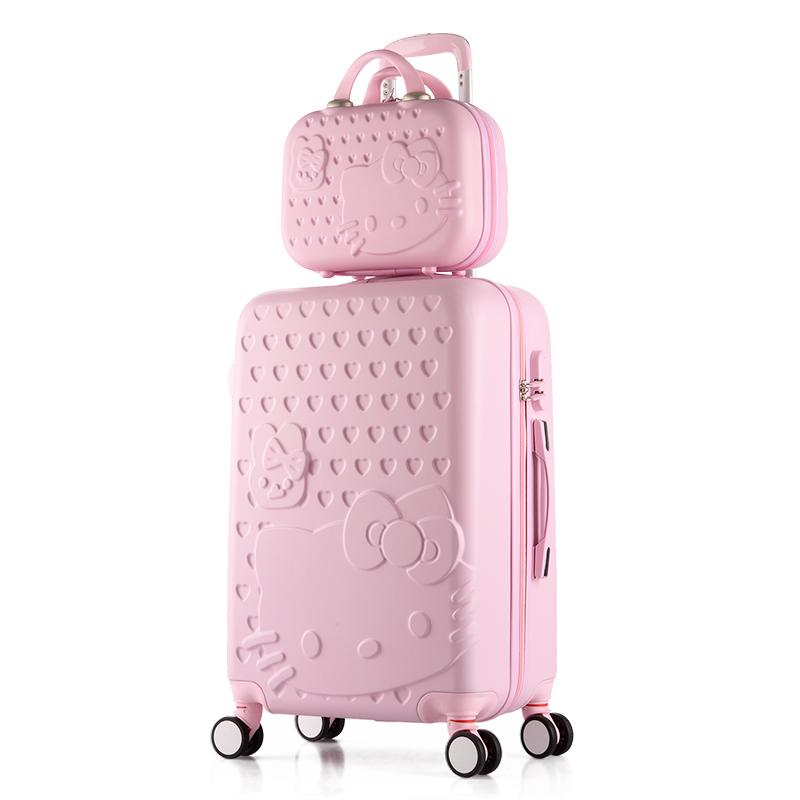 Hello Kitty Rolling Luggage Cute Set Suitcase Women Trolley Case Girls  Spinner Carry Ons Luggage Travel Box Cosmetic Bag Child Suitcase Buy Bags  From ... 91eac3c9ce