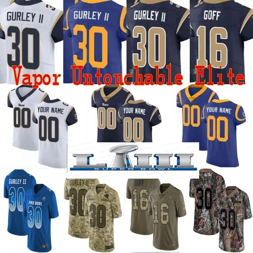 9ea3a86335c Super Bowl Custom Men Youth Women Todd Gurley II Aaron Donald Jared ...