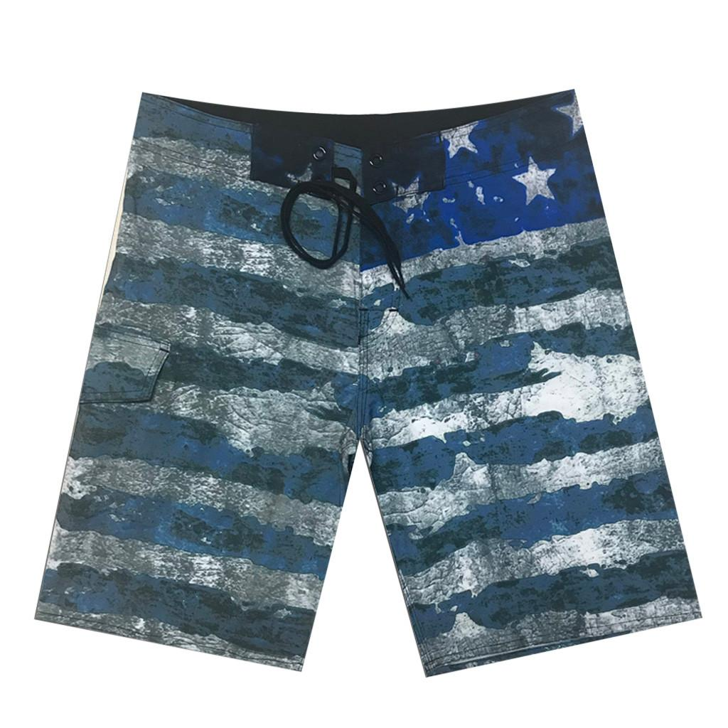 Boardshorts Männer Sommer Jogginghose Shorts Mens Casual Board Shorts 2019 Graffiti Gedruckt Strand Shorts Elastische Taille Beiläufige Kurze Männer Badeanzug