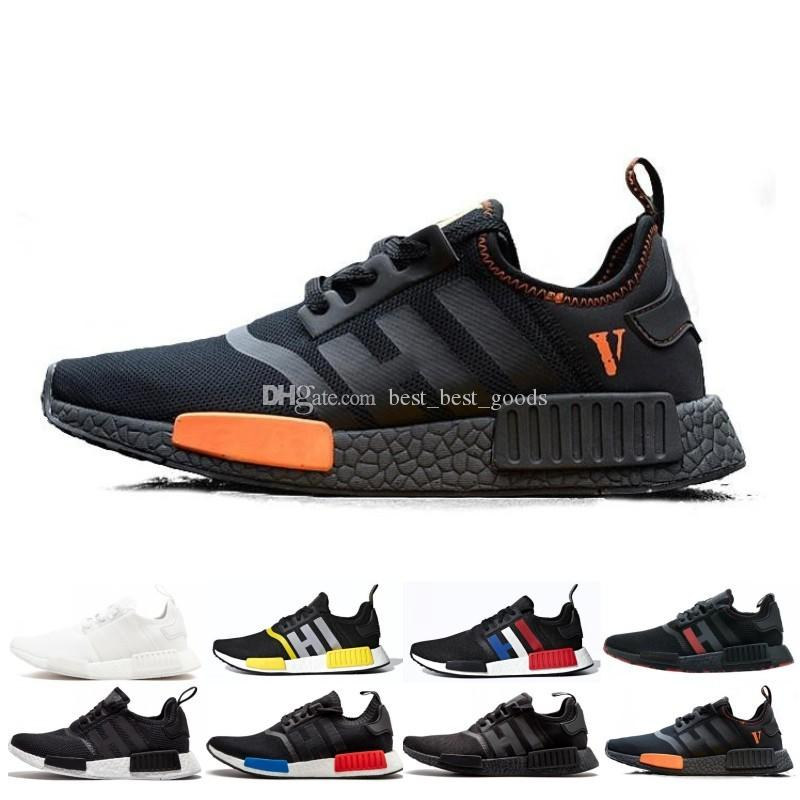 detailed look 3bcb4 28c3c NMD XR1 Running Shoes Mastermind Japan Skull Olive green R1 Camo Glitch  Black White Blue nmds zebra Pack men women sports shoes 36-45