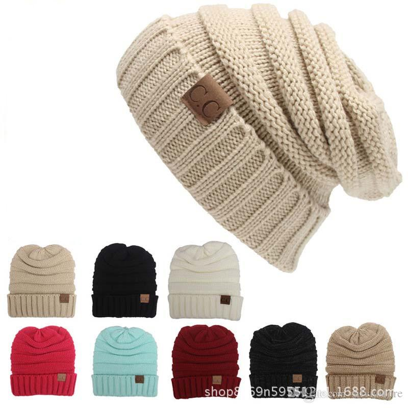 9f05c44d87fa1 Winter Brand Female Ball Cap Pom Poms Winter Hat For Women Girl  S Hat  Knitted Beanies Cap Hat CC Thick Women Skullies Beanies Summer Hats Funny  Hats From ...