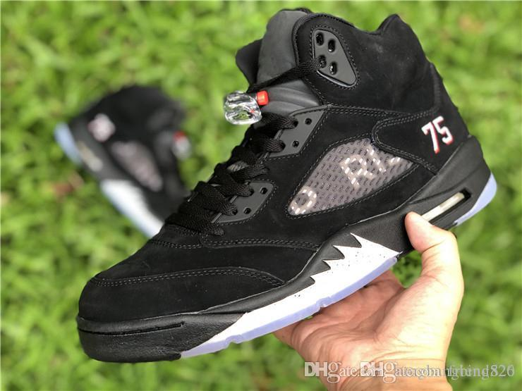 cfc8759709f4f3 2018 Limited Release 5 Paris 5s Man Basketball Shoes Black Suede Limited  Sports Sneakers With Original Box Sports Shoes Basketball From Friend520