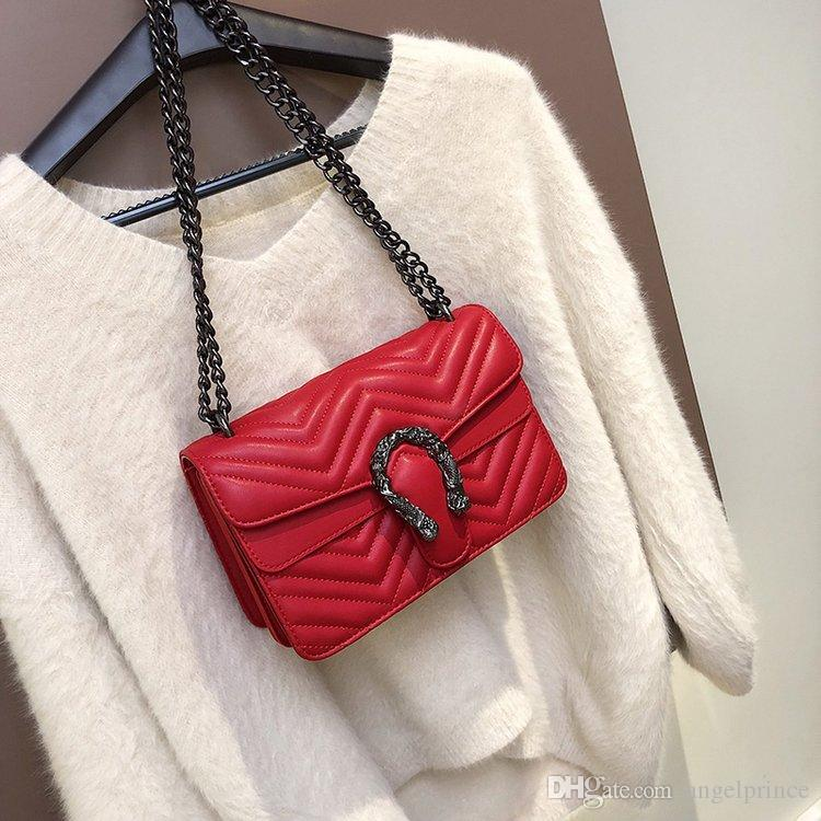 d5a1eeef1e3 NEW Brand Designer HanDbags Women LUXURY Shoulder Bag chain Crossbody  pillow pack Bags Fashion Messenger Bag Leather Briefcase boston bag