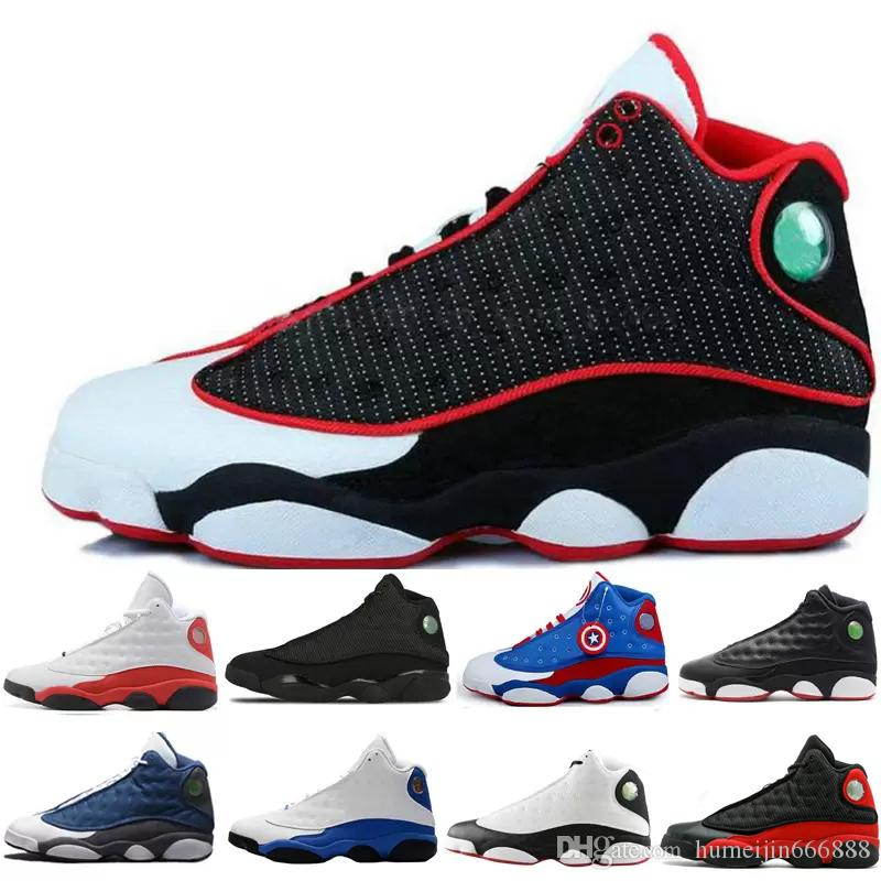 best service 3b48d baeb8 2018 13 13s Mens Basketball Shoes GS Hyper Royal Italy Bordeaux Flints  Chicago Bred DMP Wheat Olive Ivory Black Cat Sneakers US 8 13 Boys Running  Shoes On ...