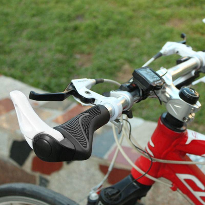 1 pair Bicycle Bike MTB Components Bar ends Handlebars Rubber Grips  Aluminum Barend Handle bar Ergonomic Push On Soft Grips