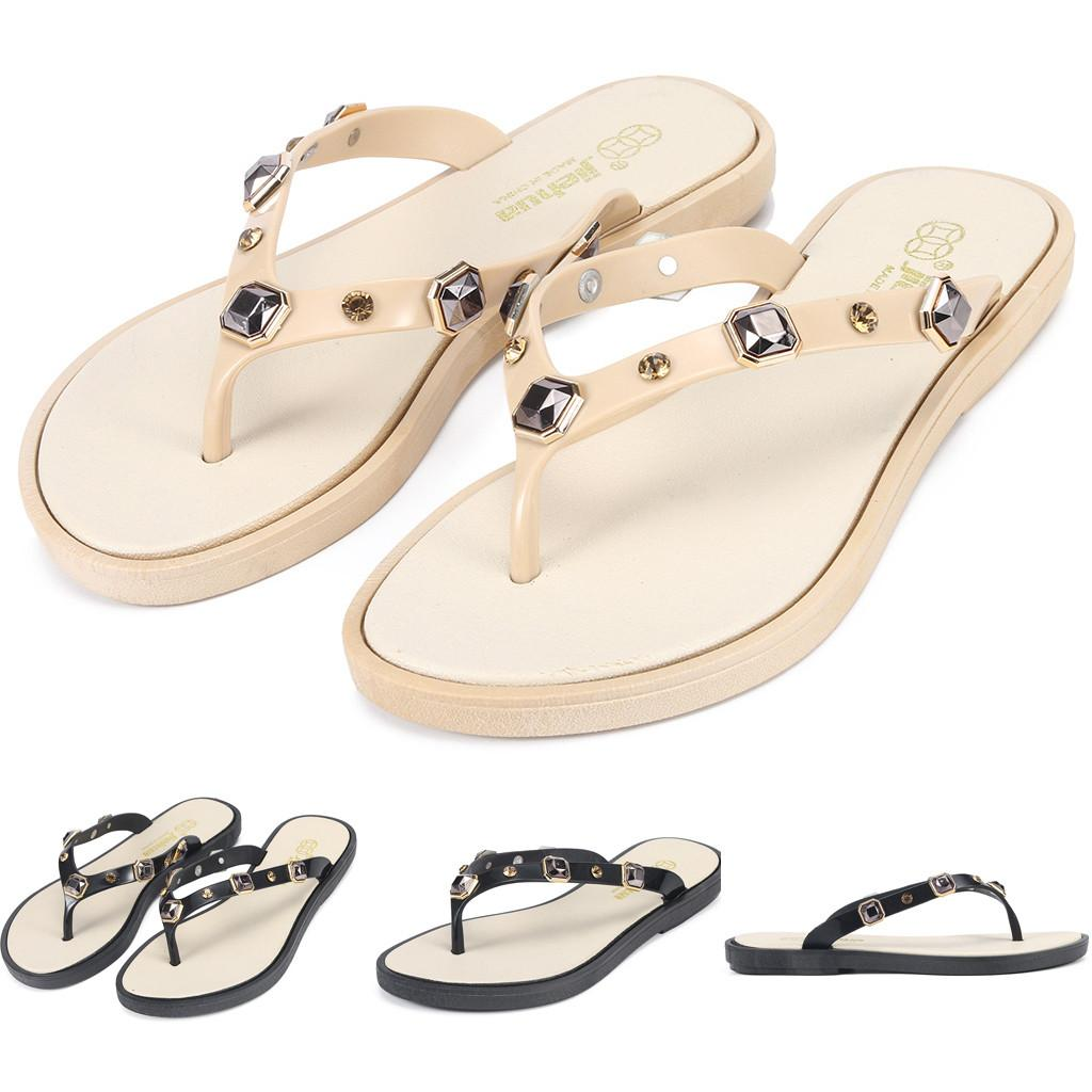 5bcd49ef6 Zapatos mujer 2019 Women's Casual Wear Beach Slippers Comfortable Flip-Flops  Non-Slip Sandals shoes woman slippers 40
