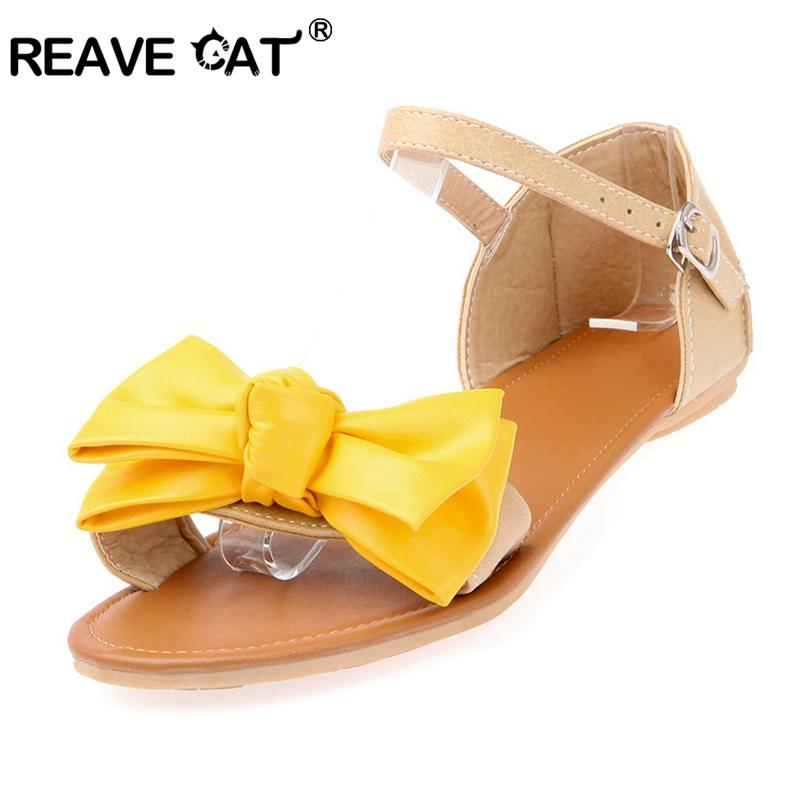 d8edec7c7015f Wholesale Women Sandals Flats Female Mujer Summer Shoes Butterfly Knot  Buckle Cute Red Blue Yellow Ladies  Flat Sandals QL4453 Ladies Shoes Red  Shoes From ...