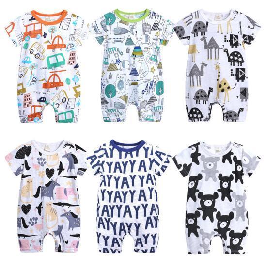 d064add8a 6 Styles Baby Infant Summer Clothing Romper Short Sleeve Horse Bear ...