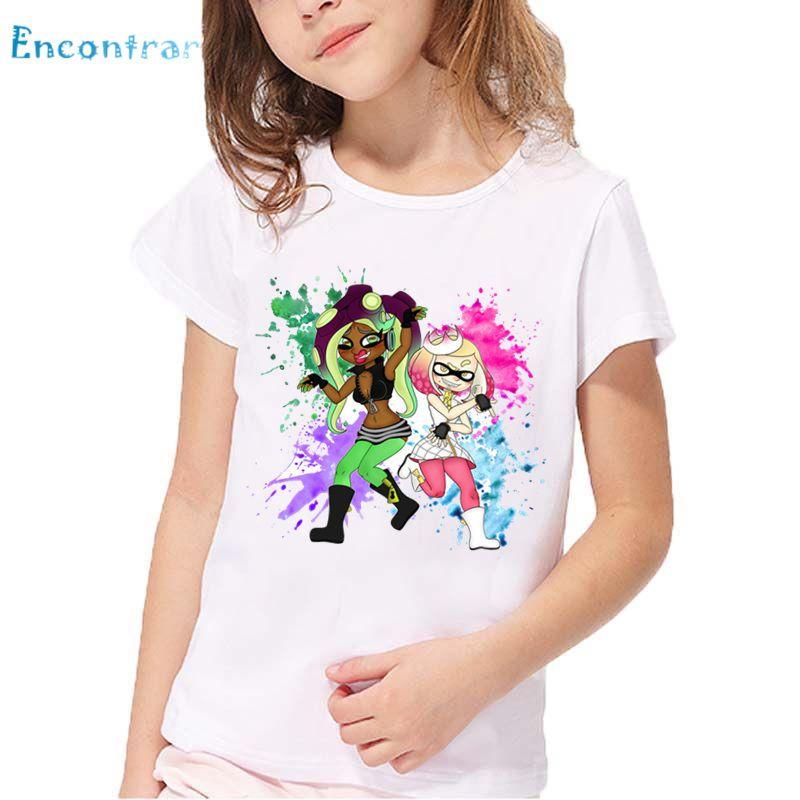 b31e3d7f62 2019 Children Cartoon Splatoon Inkling Print Funny T Shirt Kids Summer  Short Sleeve Tops Baby Girls And Boys Cute Clothes