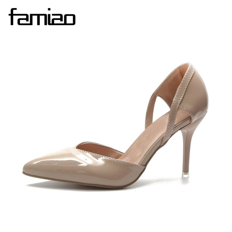f02a8b57e991 Designer Dress Shoes FAMIAO Zapatos Mujer 2019 New Fashion High Heels Women  Pumps Thin Heel Classic White Red Nede Beige Sexy Prom Wedding Prom Shoes  Hiking ...