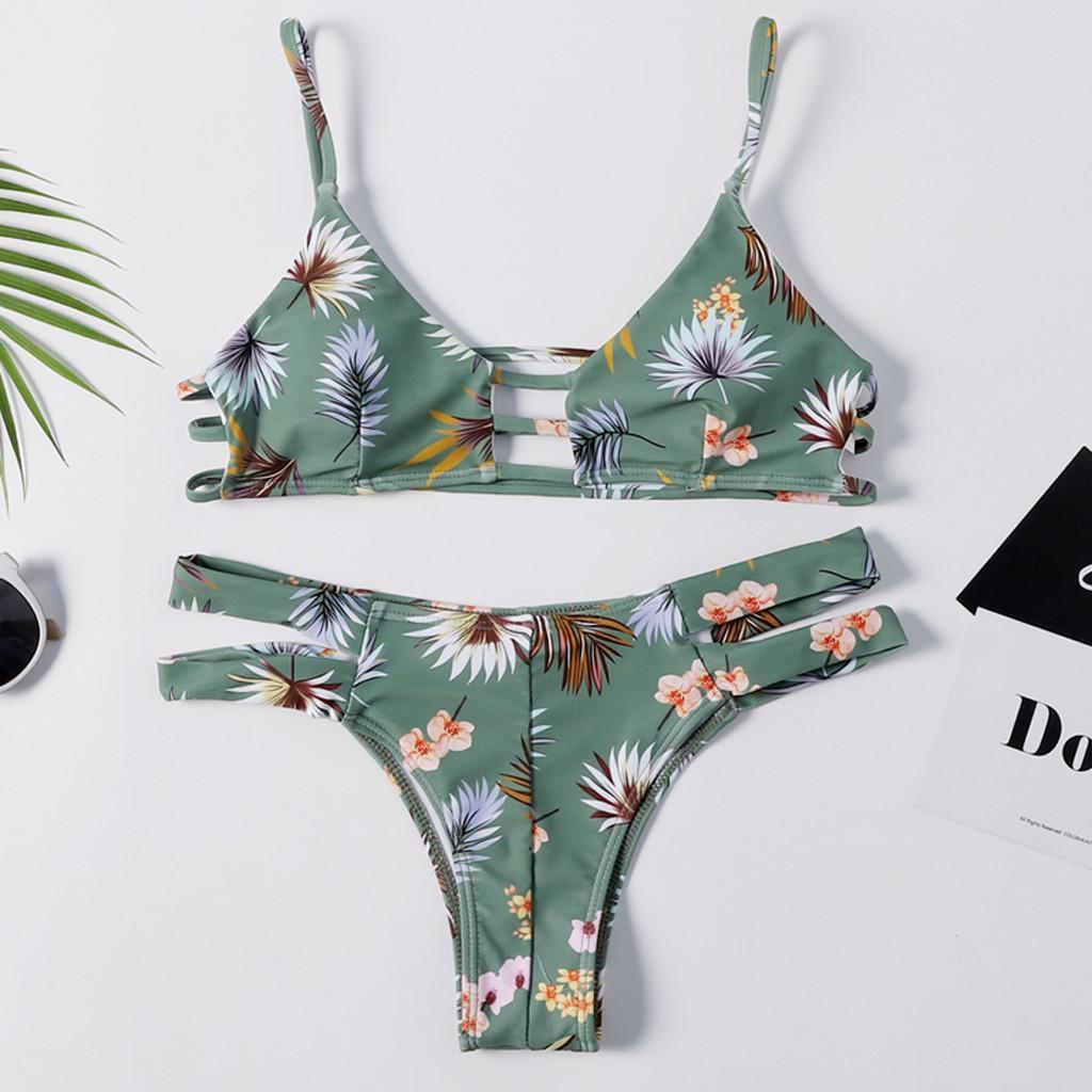 ac6058415e Acheter Womail Maillots De Bain Femmes Imprimé Push Up Soutien Gorge  Rembourré Beach Bikini Maillot De Bain Beachwear Maillots De Bain De $20.81  Du ...