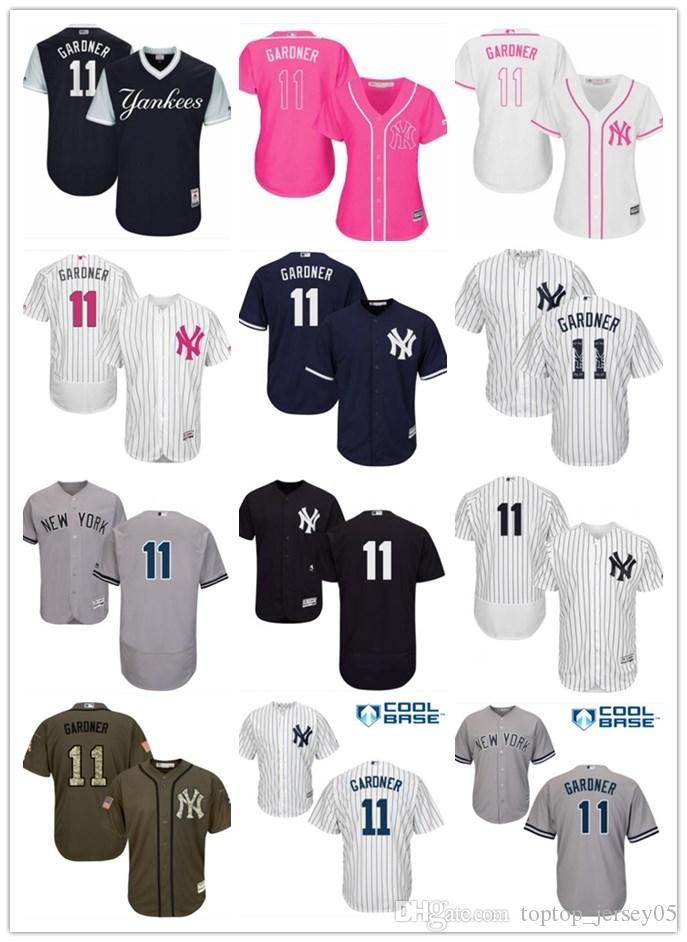 0a4c5c6fb6e 2018 top New York Yankees Jerseys  11 Brett Gardner Jerseys  men WOMEN YOUTH Men s Baseball Jersey Majestic Stitched Professional  sportswear
