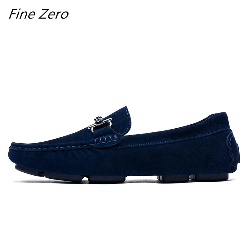 20001fb5880 New Cow Suede Leather Slip On Men Loafers Mocassin Casual Shoes Top ...