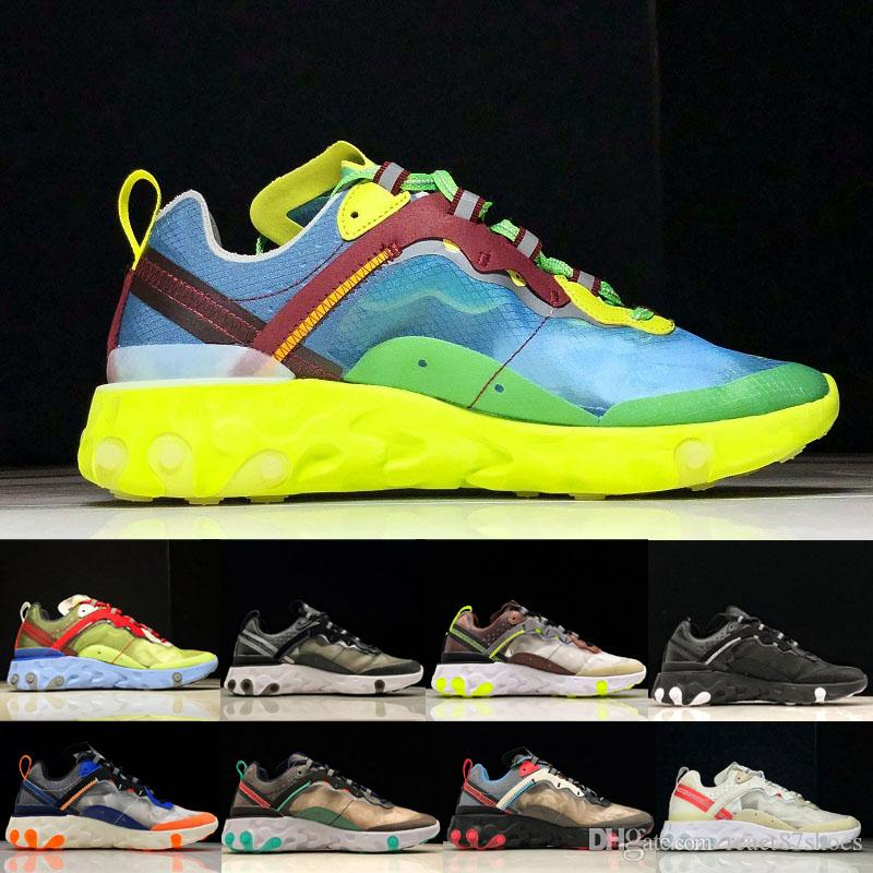 a92f57188bfc 2019 Epic React Element 87 Undercover Running Shoes Volt University Red  Electric Yellow Sneakers Sports Dark Grey Blue Chill Trainer Shoes From  React87shoes ...