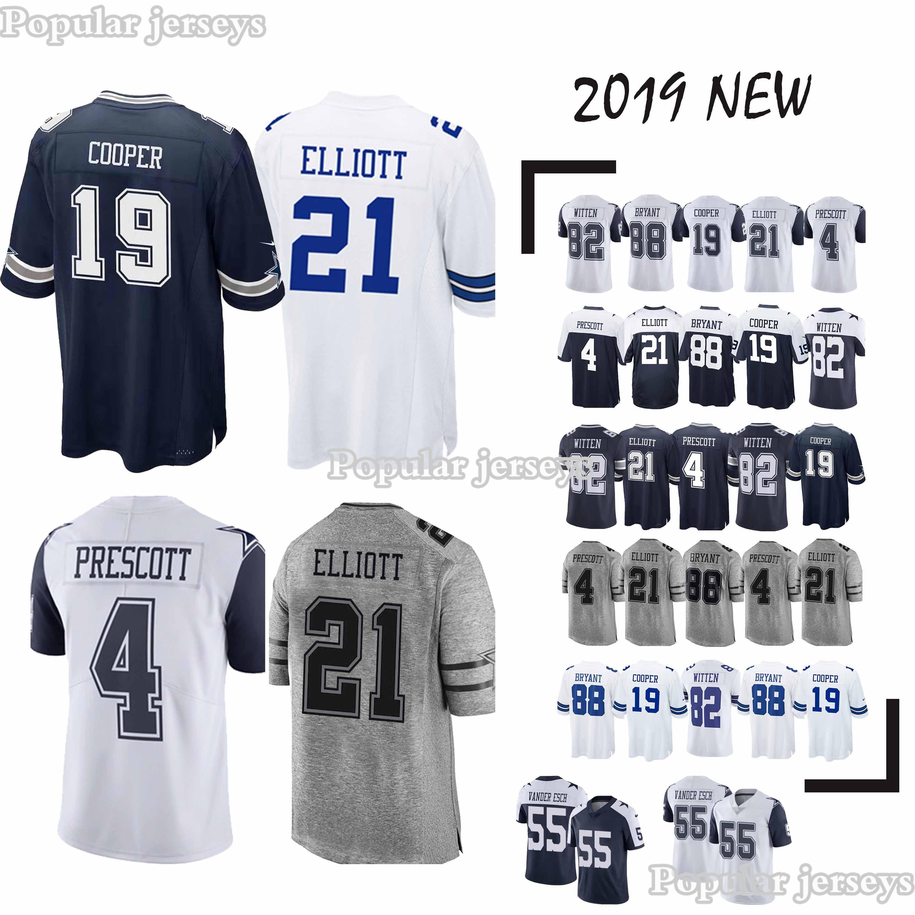 5c9e6c5482e95 Dallas Jerseys Cowboys 21 Ezekiel Elliott 19 Amari Cooper 55 ...