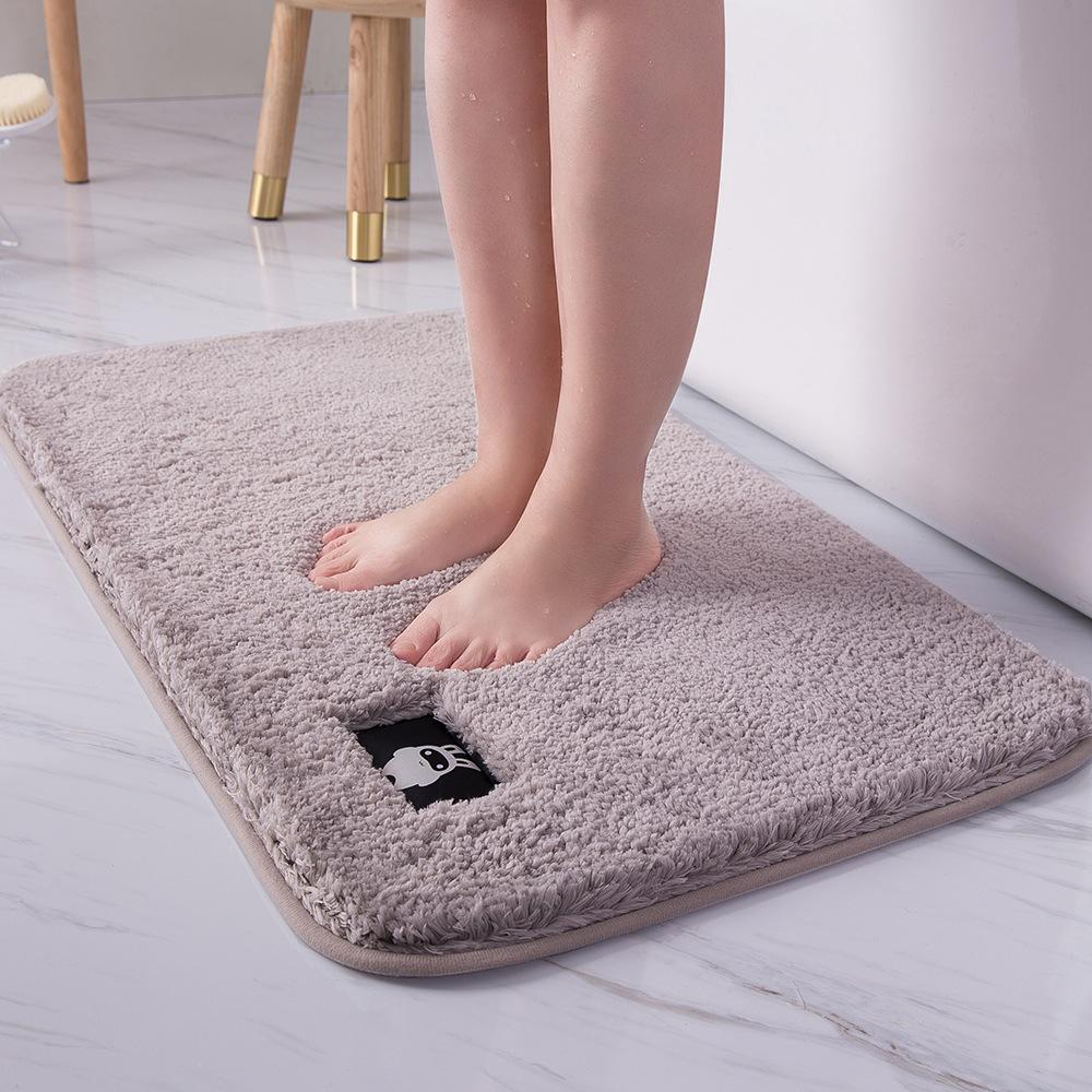 Shaggy Bath Mat Bathroom Carpet Water Absorption Rug Non Slip Kitchen Bath Mat Large Size Bedroom Rugs Hot Sale