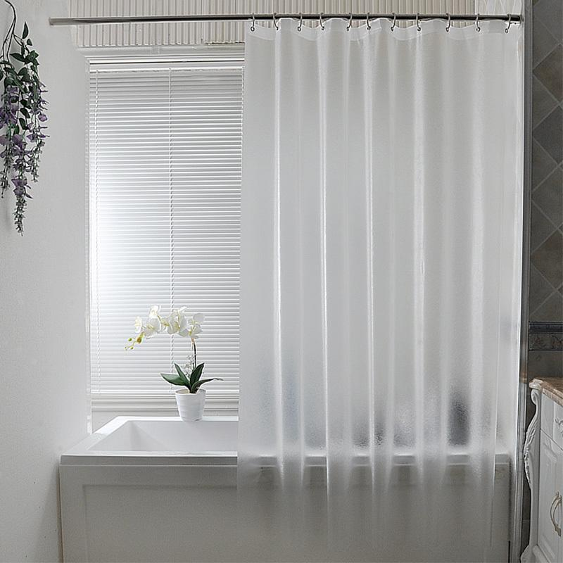2019 Nordic Plastic Waterproof Punch Free Shower Curtain Translucent Thickened Bath Curtains Frosted Atmosphere Partition C18112201 From Mingjing03
