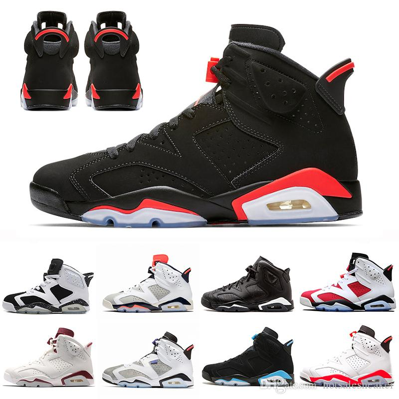 98223a4611a With Box 2019 Bred Men 6 6s Basketball Shoes Tinker UNC Black Cat White  Infrared Red Carmine Toro Mens Designer Trainer Sport Sneaker Cheap Shoes  4e ...