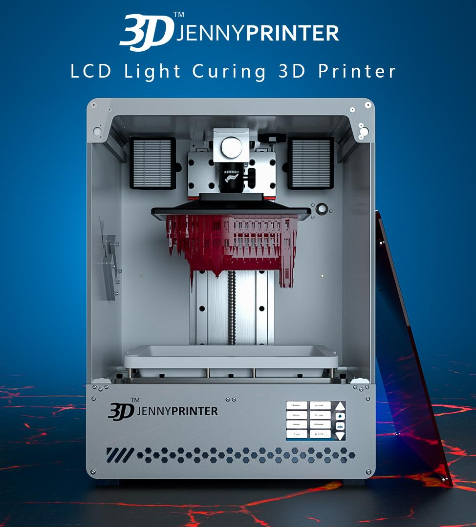 Jenny Light 1 Large Touch Screen UV Resin LCD 3D Printer 2019 Free Water  Washable Rein 500ml