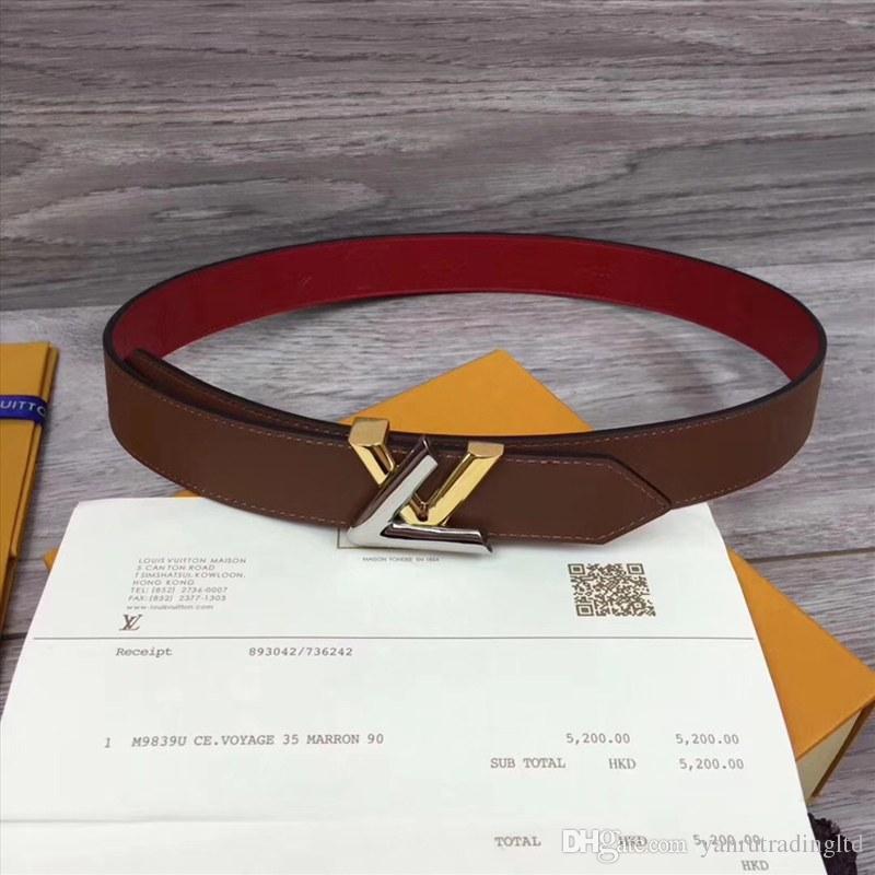 4282ee86c original box Ferragamo genuine leather luxury strap male belts for men new  fashion designer men women belt High Quality scarf glasses Watch hat GUCCI  LOUIS ...