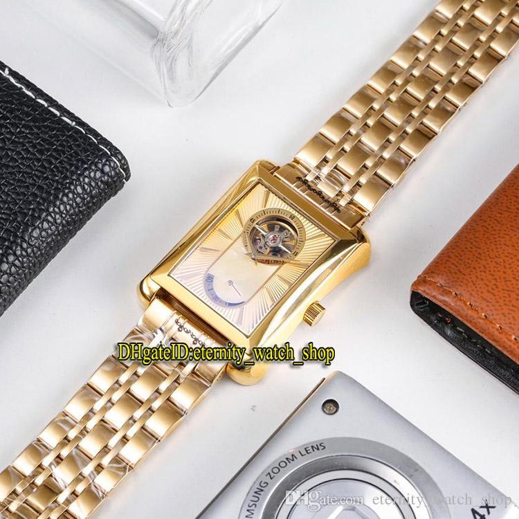 fd63292aeebc Compre es De La Marca De Lujo BLACK TIE G0A34127 Tourbillon Dorado Dial  Mecánico De Cuerda Manual Reloj Para Hombre Caja Dorada 316L Correa De  Acero Relojes ...