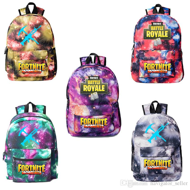 8a8a334c55 Fashion Fortnite Game Kids Backpacks Unisex Casual Backpack Travel Outdoors Sports  Bags Students School Bag Large Capacity Knapsack UK 2019 From ...