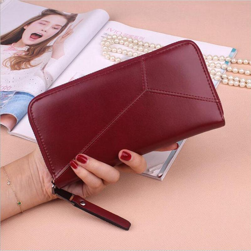 2018 Womens Wallets And Purses Plaid PU Leather Long Wallet Hasp Phone Bag  Money Coin Pocket Card Holder Female Wallets Purse Rodeo Wallets Wallet  Wristlet ... 5964b3ec7d40