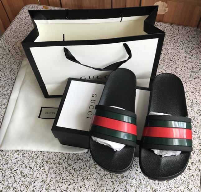 e86b12e65e30 2019 Slide Sandals Designer Shoes Luxury Slide Summer Fashion Wide Flat Slipper  Men And Women Sandals Slipper Flip Flops With Box Boys Sandals Dansko ...