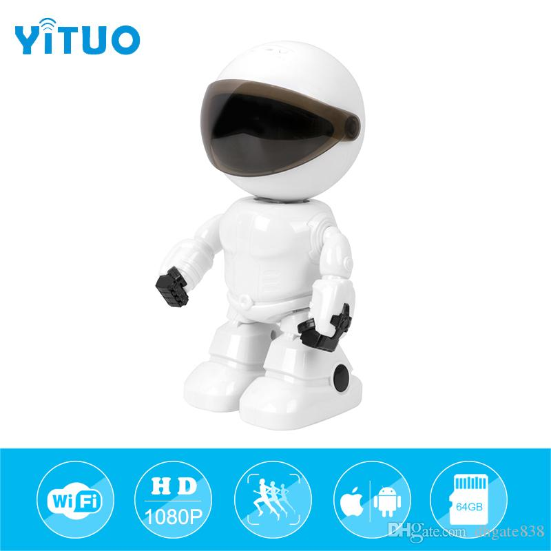 Security & Protection 1080p Hd Network Camera Two-way Audio Wireless Network Camera Night Vision Motion Detection Camera Robot Pet Baby Monitor Baby Monitors