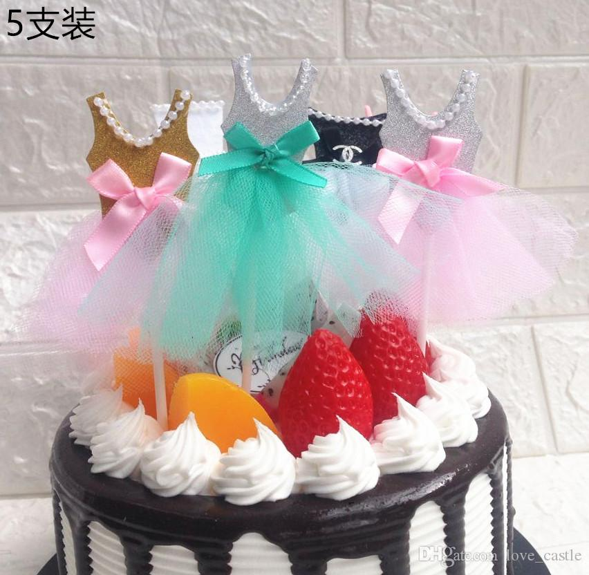 1f64f5cb Cupcake Decor Baby Shower Creative Pearl Veil Princess Dress Cake Toppers  Decoration Baby Birthday Party Supplies Christmas Presents For Kids 2013  Kid Gift ...