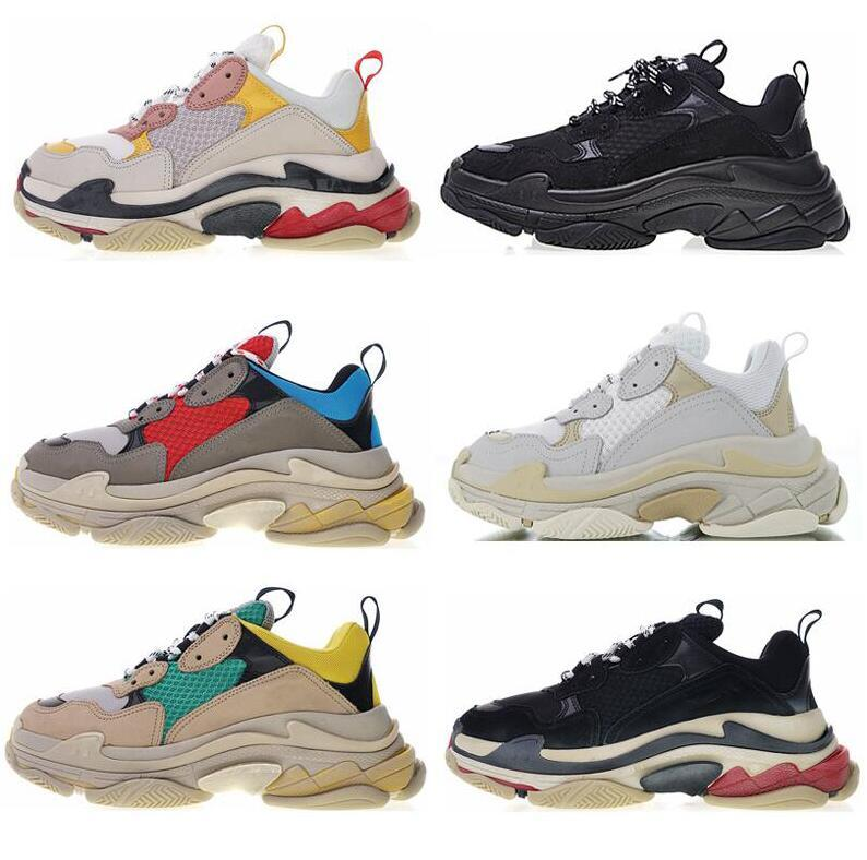 Hot casual shoes quality Fashion womens cute Sneaker Triple S Casual nvDad Shoes for Men's Women Beige Black Sports Tennis Shoe 35-46