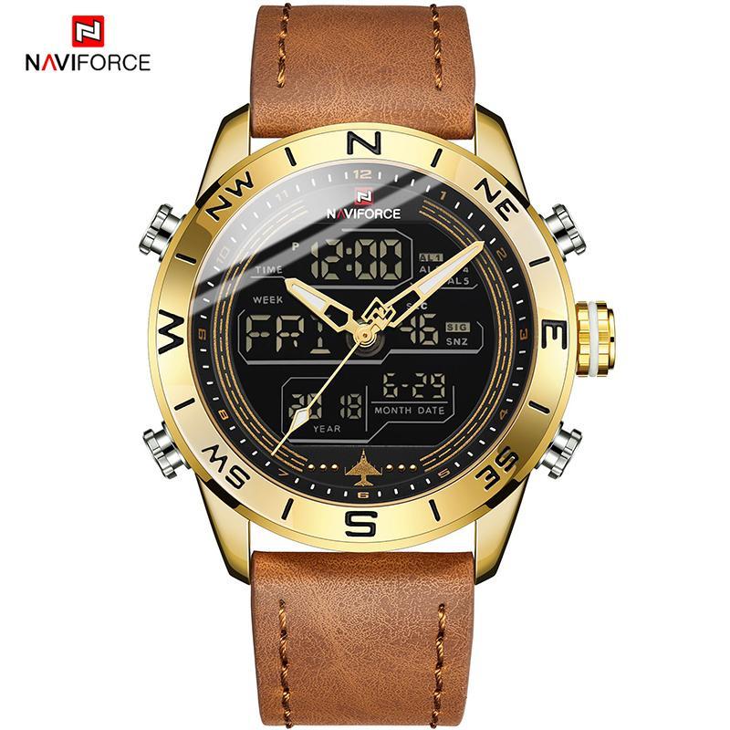 8c7b9db48536 Compre NAVIFORCE Hombres Reloj Deportivo Casual Hombres Reloj Multi Reloj  Reloj Dual Reloj Reloj Cronógrafo Relojes Hombre Relogio Masculino A  36.91  Del ...
