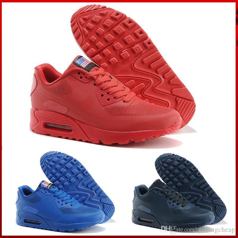 best service aa4ca a32ec Acquista Nike Air Max 90 Flag America Chaussures Hommes 90 HYP PRM QS  Scarpe Da Corsa Vendita Online Fashion 90 Anni 90 Independence Day  Zapatillas USA Flag ...