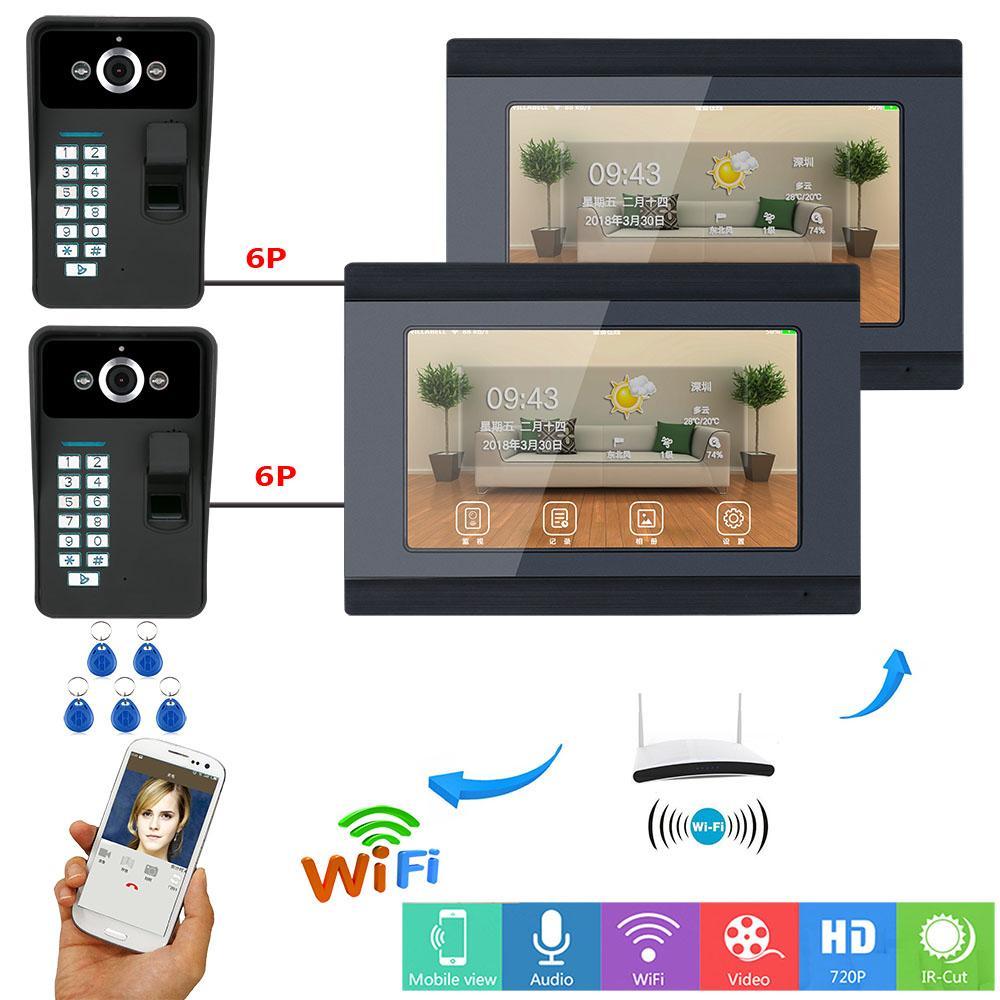 1000tvl Kamera Video Türklingel Entsperren Intercom System Für 6 Wohnung Türsprechstelle Einfach Yobang Sicherheit Visuelle Home Video Intercom 7inch Monitor