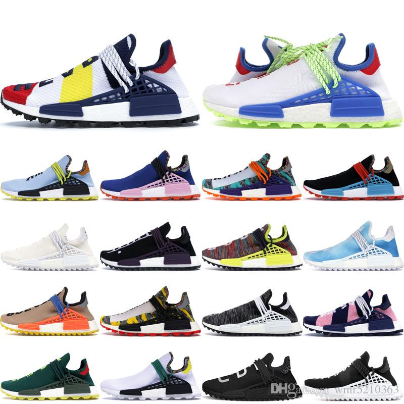 buy popular 6cb5c 049c3 2019 NMD Human Race Pharrell Williams X BBC Yellow Black Nerd Sports  Running Shoes designer Men Shoes Women sneakers With Box