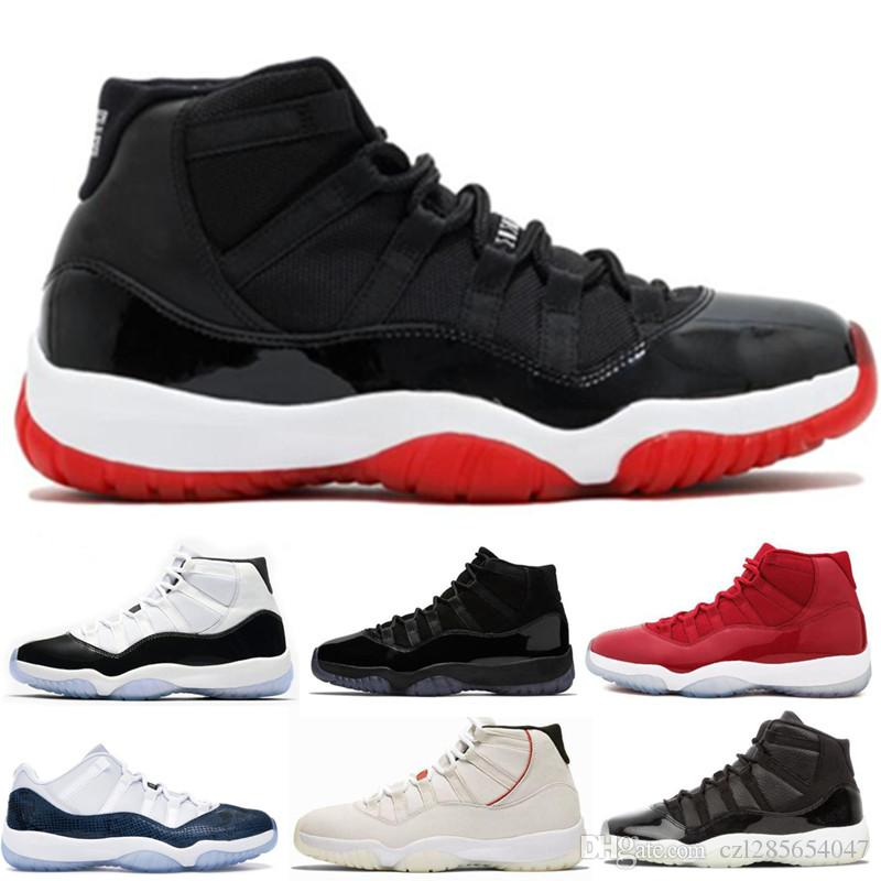 promo code 6e521 bfbc6 11 11s Bred Concord 45 Legend Blue Basketball Shoes 72 10 Men Women Cap And  Gown Prom Night Space Jam Win Like 96 Sport Sneaker With Box Sneakers  Jordans ...