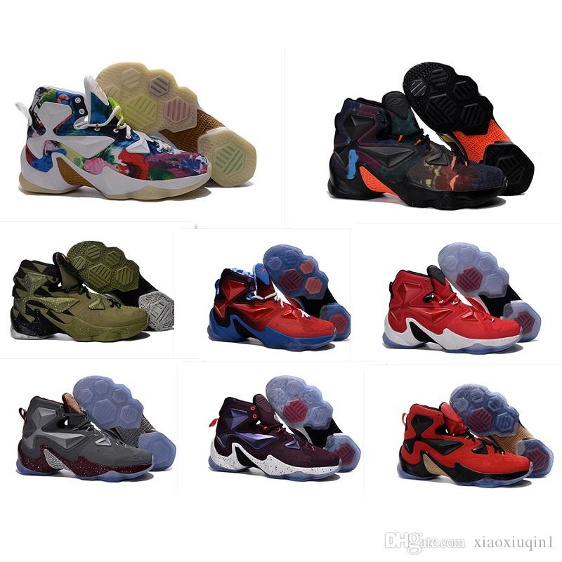 sports shoes bfd67 7a2f5 What the Lebron 13 mens basketball shoes for sale MVP Christmas BHM Blue  Easter Halloween Akronite DB boots with Size 7 12