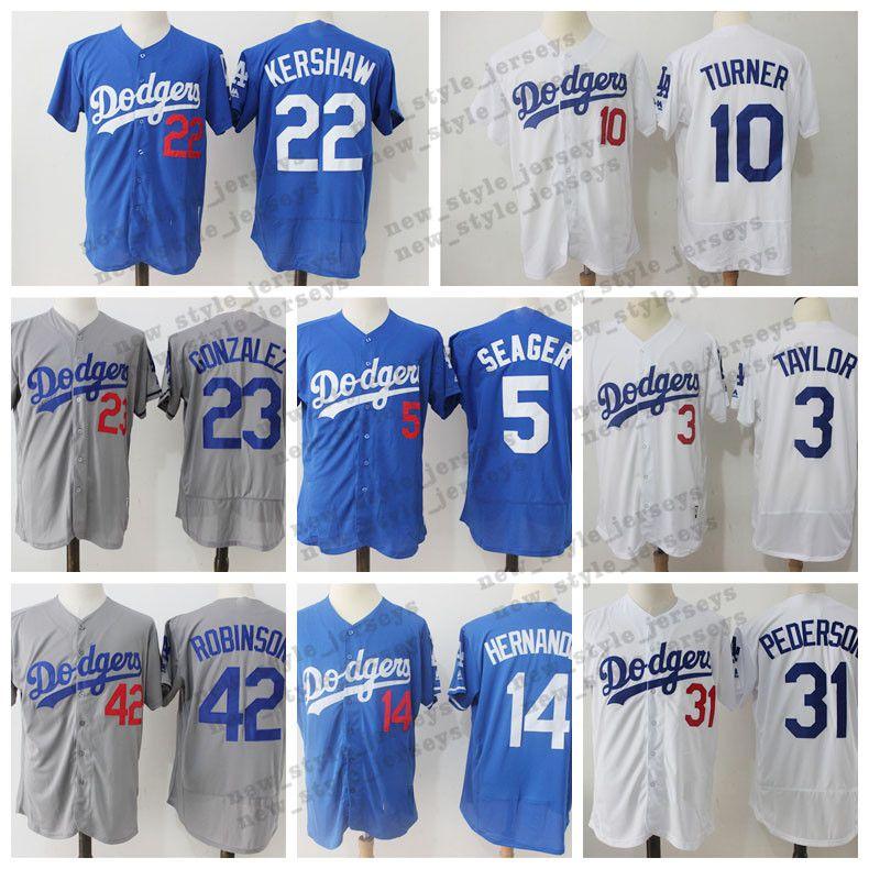buy online bbfae 04eac Kershaw Los Angeles 35 Cody Bellinger Dodgers Jersey 22 Clayton Kershaw 10  Justin Turner 31 Joc Pederson 14 Enrique Hernandez jerseys