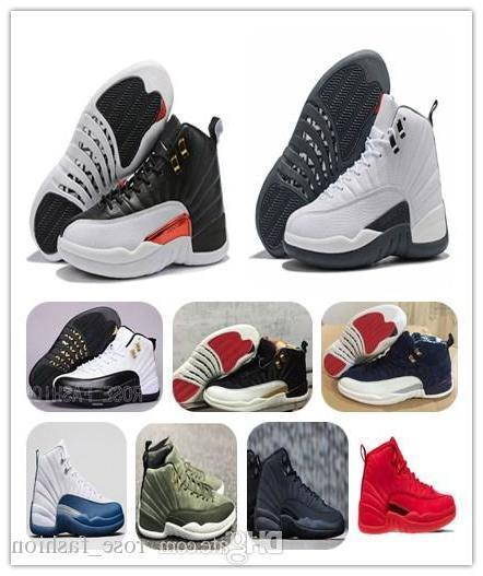 12 Reverse Taxi White Grey Mens Basketball Shoes 12s Cny Gym Red Unc Bulls Xii Flu Game Sports Sneakers Free Shippment