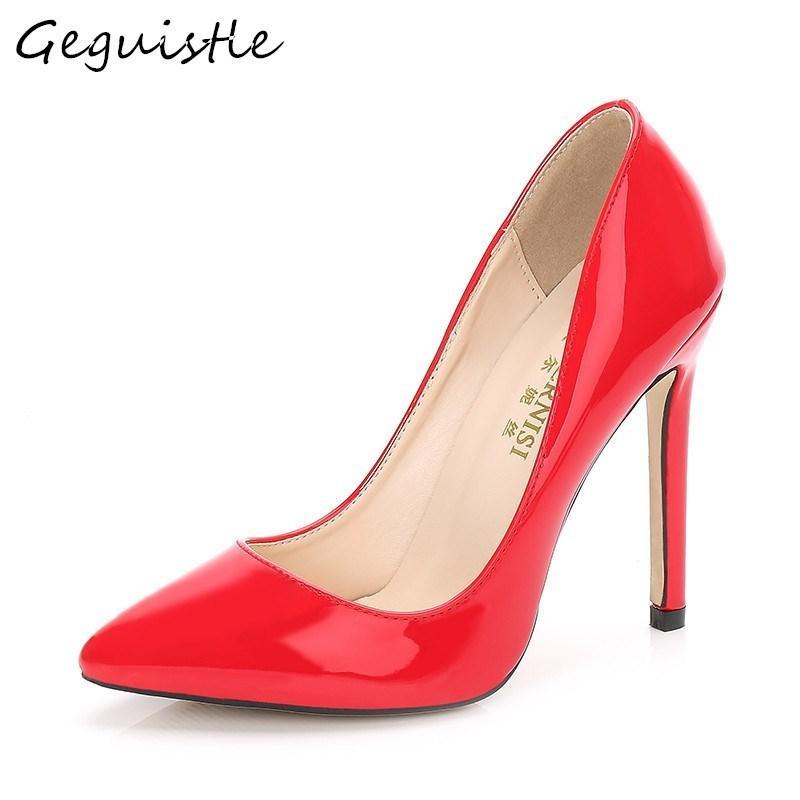 157dca3a1 Compre Sapatos Designer 11 CM Super High Heel Mulheres Fino Pé Moda Dedo  Apontado Salto Fino Sexy Único Elegante Tamanho Grande Bombas De Bags55, ...