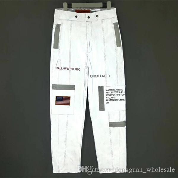 Compre Heron Preston Space Joggers Mujer Hombre H1  1 Alta Calidad 3M  Reflectante Impermeable Rompevientos Pantalones Pantalones De Chándal A   44.59 Del ... b889b7d2ff6d