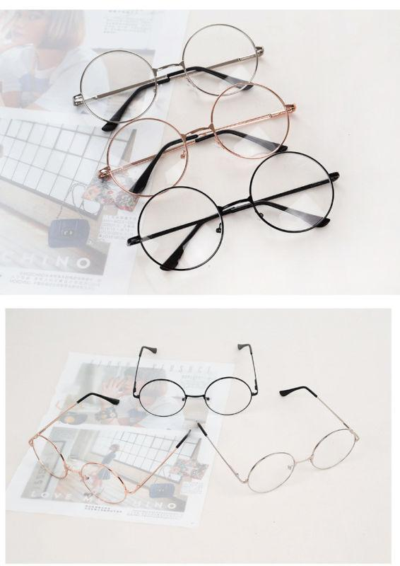 bb1f4206fb 2019 2018 New Man Woman Retro Large Round Glasses Transparent Metal  Eyeglass Frame Black Silver Gold Spectacles Eyeglasses From Viulue