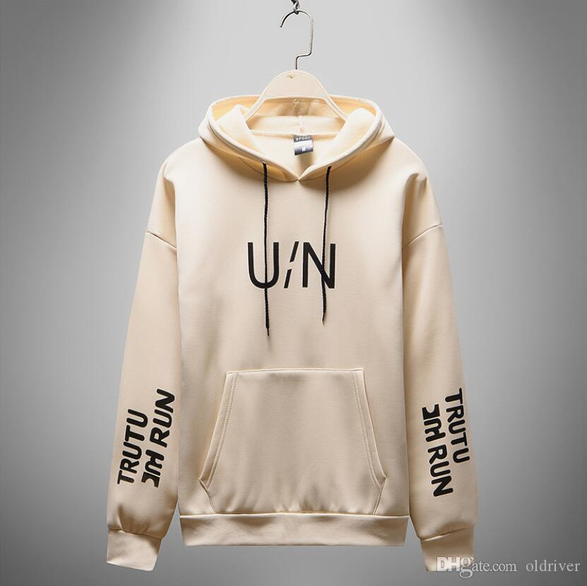 New Autumn Mens Designer Hoodies Loose Letter Printing Hooded Solid Color Sweatshirts High Quality Luxury Casual Sweatshirt