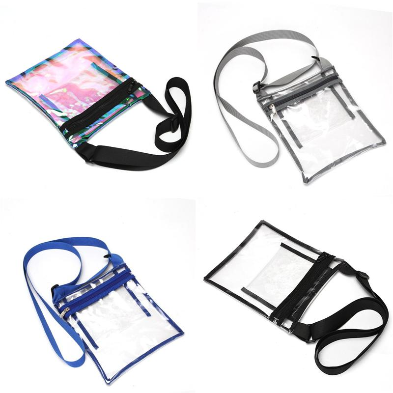 Holographic Clear Laser Waist Bag Belt Fanny Pack Crossbody Shoulder Bags Waterproof Handbag Beach Sports Travel Messenger Bags A41801