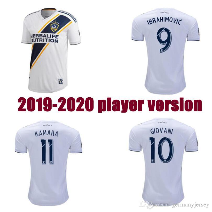 size 40 39bb1 2d20c New MEN Player version La Galaxy 19 20 Zlatan IBRAHIMOVIC Soccer Jerseys  Los Angeles Galaxy Long SLEEVE GIOVANI ALESSANDRINI Football Shirts