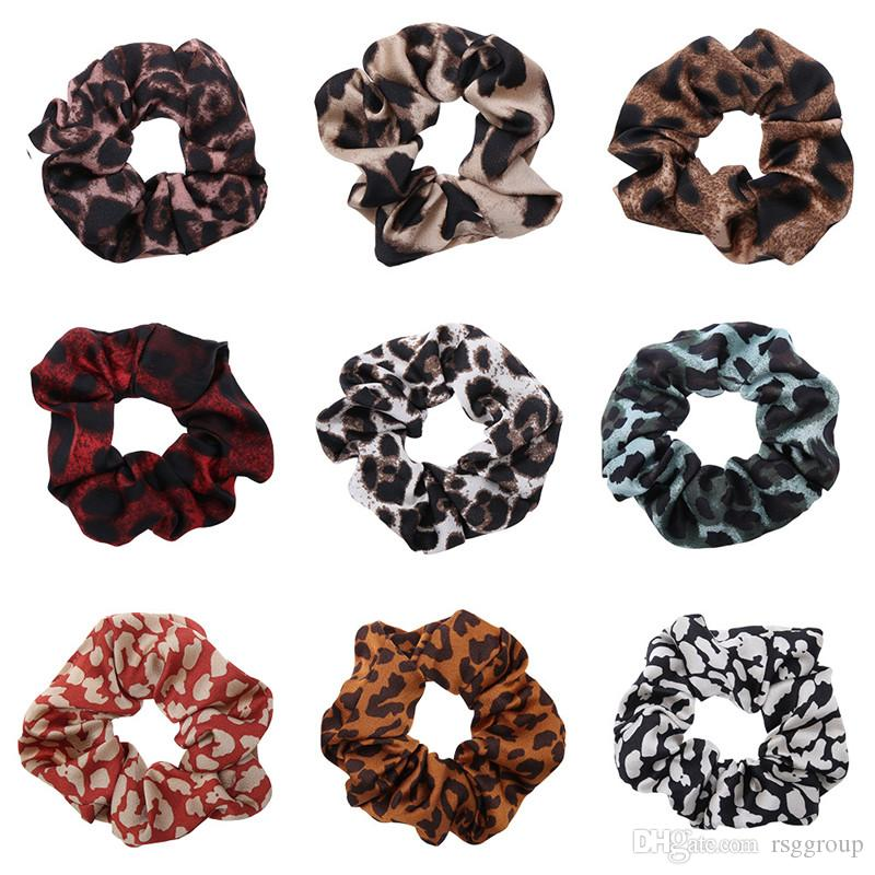 Free DHL INS Women Girls Velvet Scrunchies Quality Elastic Leopard Hairbands Floral Girls Hair Tie Hair Rope Hair Accessories Wholesale