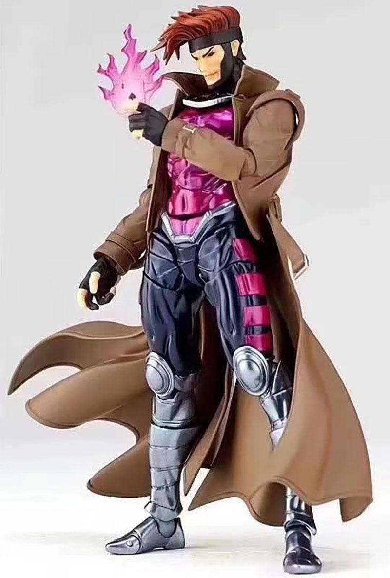 Amazing Yamaguchi Revoltech GAMBIT X-MEN series NO.012 PVC Action Figure Collectible For Kids Toys Gifts Brinquedos