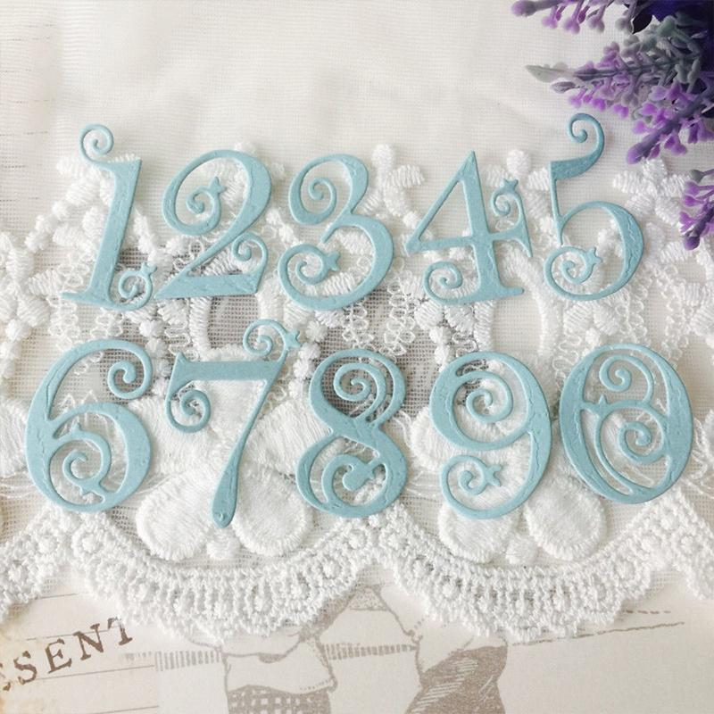 Dies Paper Numbers Cutting Lace Scrapbooking Craft Stencil Embossing Card Metal
