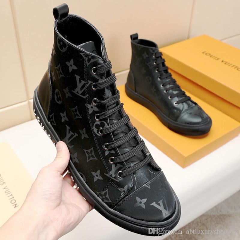 finest selection dd6ff 7c1f6 Männer Schuhe Stiefel Mode Schuhe Herren Stiefel High Top Knöchel Mode  Stiefel mit Original Box Bottes Hommes Tattoo Sneaker Boot M # 46